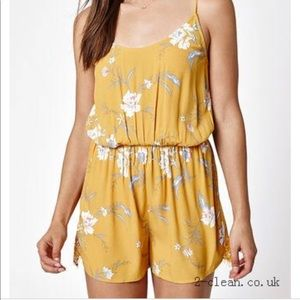 Kendall & Kylie Jenner Yellow Floral Romper